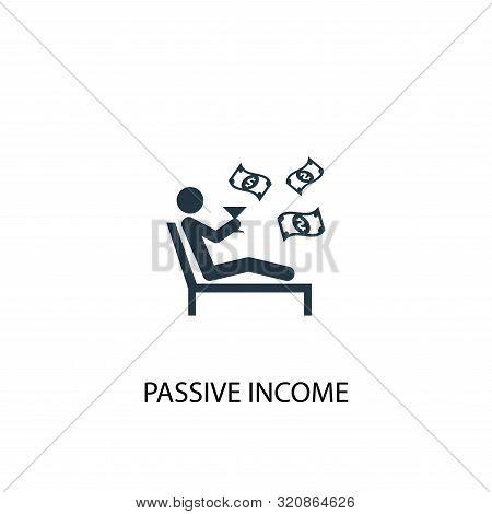 Passive Income Icon. Simple Element Illustration. Passive Income Concept Symbol Design. Can Be Used