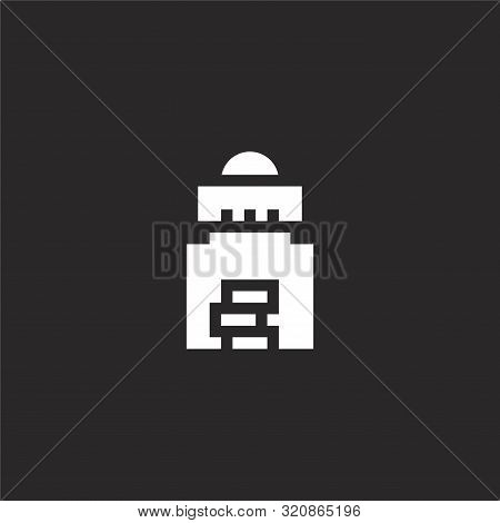 Tips Icon. Tips Icon Vector Flat Illustration For Graphic And Web Design Isolated On Black Backgroun