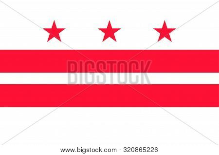Flag Of Washington, D.c., Formally The District Of Columbia And Commonly Referred To As Washington O