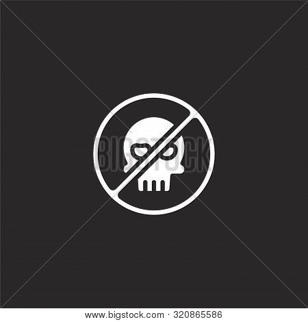 Hack Icon. Hack Icon Vector Flat Illustration For Graphic And Web Design Isolated On Black Backgroun