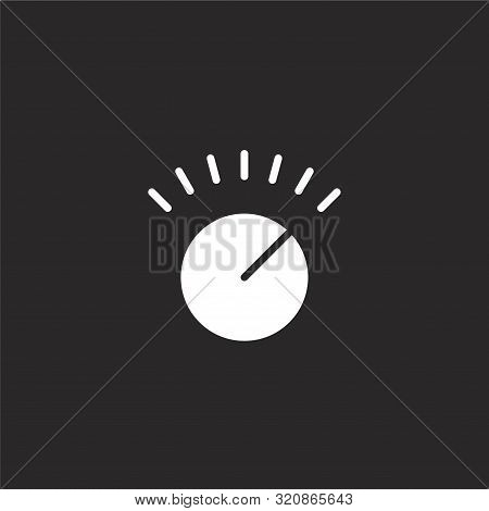 Volume Control Icon. Volume Control Icon Vector Flat Illustration For Graphic And Web Design Isolate