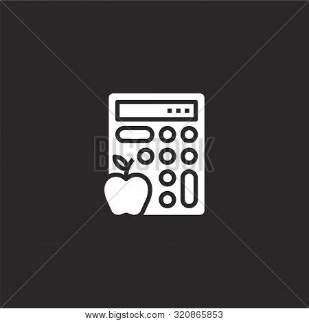 Calories Icon. Calories Icon Vector Flat Illustration For Graphic And Web Design Isolated On Black B