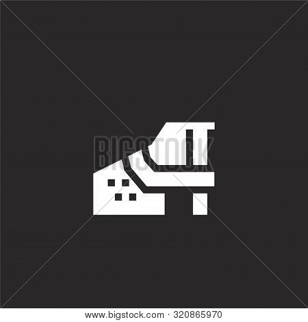 Muzzle Icon. Muzzle Icon Vector Flat Illustration For Graphic And Web Design Isolated On Black Backg
