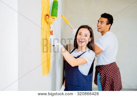 Multiethnic Couple Renovated Their First Home Together. They Emphasize A Lot Of Fun With The Walls W