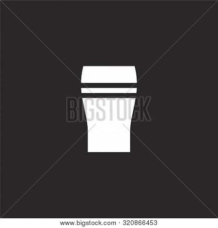 Pint Of Beer Icon. Pint Of Beer Icon Vector Flat Illustration For Graphic And Web Design Isolated On