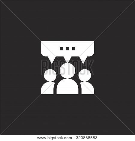 Testimonials Icon. Testimonials Icon Vector Flat Illustration For Graphic And Web Design Isolated On