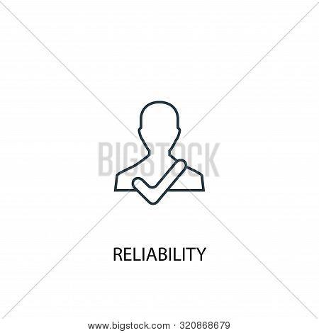 Reliability Concept Line Icon. Simple Element Illustration. Reliability Concept Outline Symbol Desig