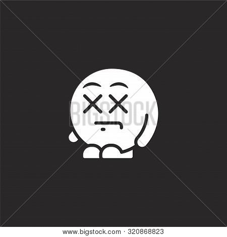 Dead Icon. Dead Icon Vector Flat Illustration For Graphic And Web Design Isolated On Black Backgroun