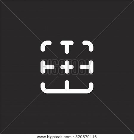 Bottom Icon. Bottom Icon Vector Flat Illustration For Graphic And Web Design Isolated On Black Backg