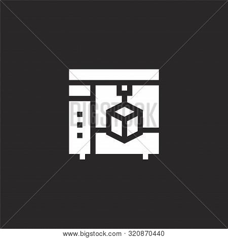 D Printing Icon. D Printing Icon Vector Flat Illustration For Graphic And Web Design Isolated On Bla