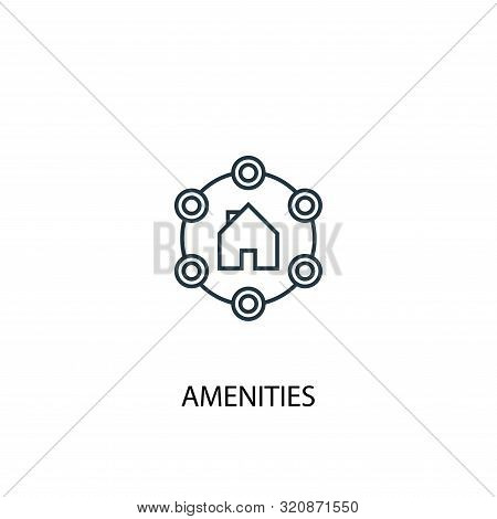 Amenities Concept Line Icon. Simple Element Illustration. Amenities Concept Outline Symbol Design. C