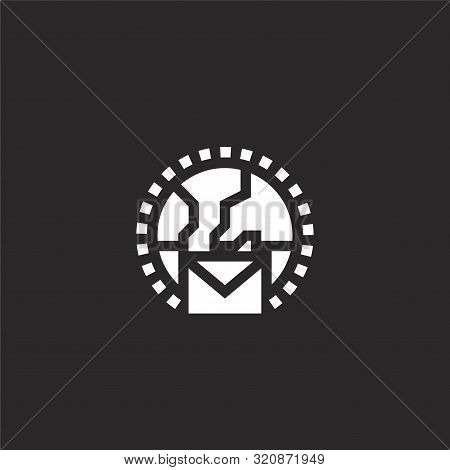 Around The Globe Icon. Around The Globe Icon Vector Flat Illustration For Graphic And Web Design Iso