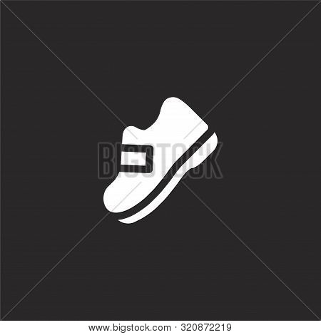 Boot Icon. Boot Icon Vector Flat Illustration For Graphic And Web Design Isolated On Black Backgroun