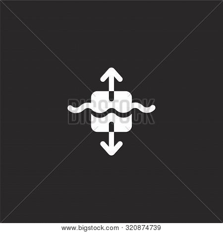 Balance Icon. Balance Icon Vector Flat Illustration For Graphic And Web Design Isolated On Black Bac