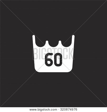 Degrees Icon. Degrees Icon Vector Flat Illustration For Graphic And Web Design Isolated On Black Bac