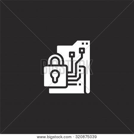 Data Encryption Icon. Data Encryption Icon Vector Flat Illustration For Graphic And Web Design Isola