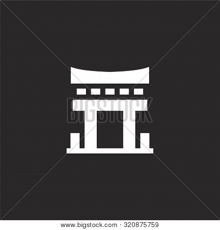 Architectonic Icon. Architectonic Icon Vector Flat Illustration For Graphic And Web Design Isolated