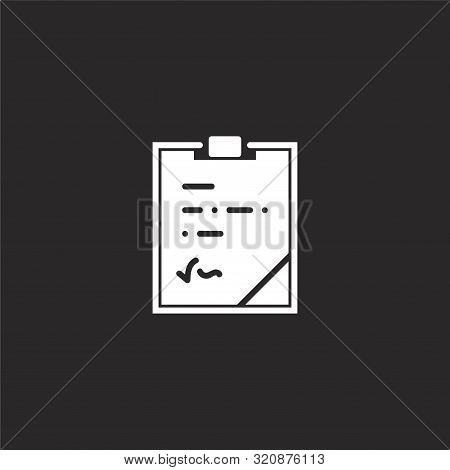 Notepad Icon. Notepad Icon Vector Flat Illustration For Graphic And Web Design Isolated On Black Bac