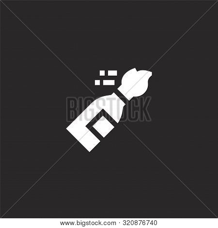 Molotov Cocktail Icon. Molotov Cocktail Icon Vector Flat Illustration For Graphic And Web Design Iso