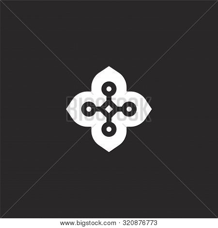 Floral Design Icon. Floral Design Icon Vector Flat Illustration For Graphic And Web Design Isolated