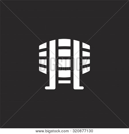 Beer Keg Icon. Beer Keg Icon Vector Flat Illustration For Graphic And Web Design Isolated On Black B