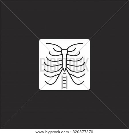 X Ray Icon. X Ray Icon Vector Flat Illustration For Graphic And Web Design Isolated On Black Backgro