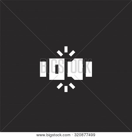 Seat Belt Icon. Seat Belt Icon Vector Flat Illustration For Graphic And Web Design Isolated On Black