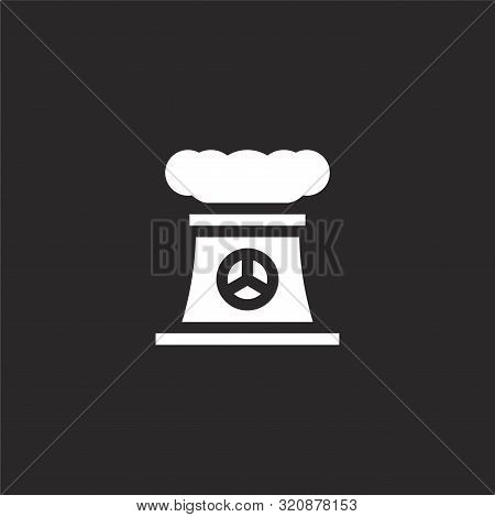 Cooling Tower Icon. Cooling Tower Icon Vector Flat Illustration For Graphic And Web Design Isolated