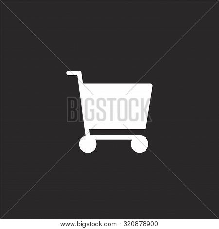 Shopping Cart Icon. Shopping Cart Icon Vector Flat Illustration For Graphic And Web Design Isolated