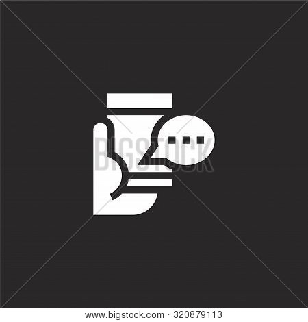 Recommend Icon. Recommend Icon Vector Flat Illustration For Graphic And Web Design Isolated On Black