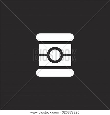 Canned Food Icon. Canned Food Icon Vector Flat Illustration For Graphic And Web Design Isolated On B