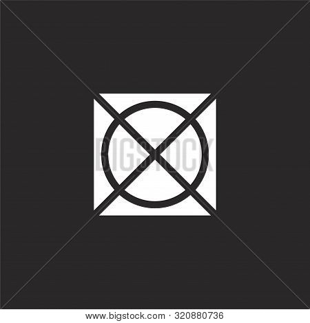 Do Not Tumble Dry Icon. Do Not Tumble Dry Icon Vector Flat Illustration For Graphic And Web Design I