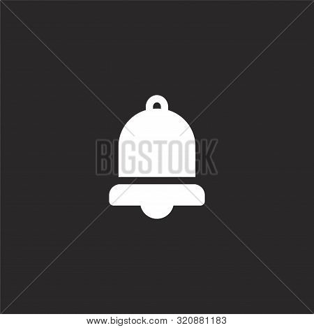 Notification Icon. Notification Icon Vector Flat Illustration For Graphic And Web Design Isolated On