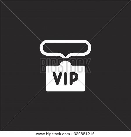 Concert Icon. Concert Icon Vector Flat Illustration For Graphic And Web Design Isolated On Black Bac