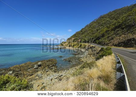Beautiful Beach On The Great Ocean Road, Victoria, Australia