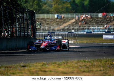 August 31, 2019 - Portland, Oregon, USA: TONY KANAAN (14) of Salvador, Brazil  practices for the Grand Prix of Portland at Portland International Raceway in Portland, Oregon.
