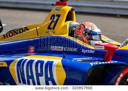 August 31, 2019 - Portland, Oregon, USA: ALEXANDER ROSSI (27) of the United States  prepares to qualify for the Grand Prix of Portland at Portland International Raceway in Portland, Oregon.