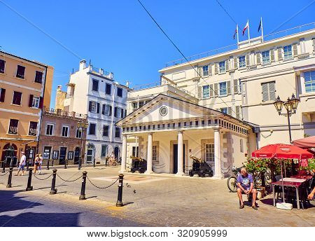 Gibraltar, Uk - June 29, 2019. Convent Place, Colloquially Known In Gibraltar As Number 6, The Headq