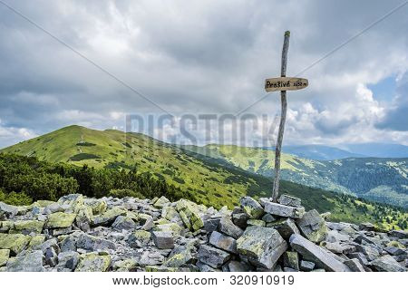 Prasiva Peak, Low Tatras, Slovak Republic. Seasonal Natural Scene. Travel Destination.