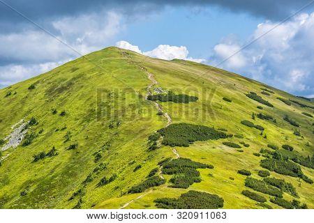 View From Prasiva Peak To Little Chochula, Low Tatras, Slovak Republic. Seasonal Natural Scene. Trav