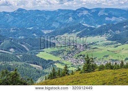 Liptovska Luzna Village, Low Tatras, Slovak Republic. Travel Destination. Hiking Theme.