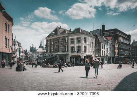 Den Bosch, Netherlands, May 24, 2015: Impression Of The Corner Markt And Hinthamerstraat  In The Sho