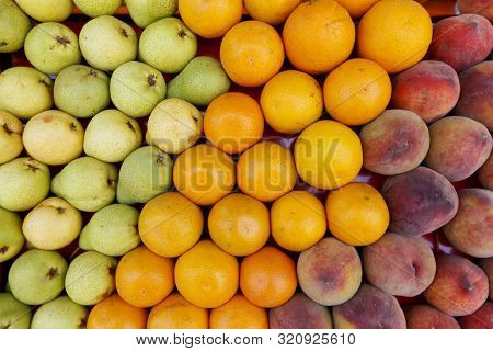 Detail Of  Fruit Stall At The Open Air Market
