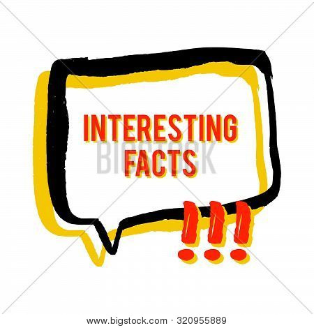 Interesting Facts Speech Bubble Icons. Fun Fact Idea Label. Banner For Business, Marketing And Adver
