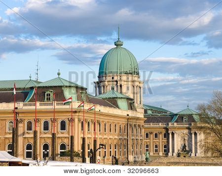 Budapest, Buda Castle is the historical castle and palace complex of the Hungarian kings in Buda, it was also called Royal Palace and Royal Castle