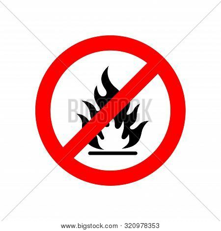 Flammable Sign - Icon Vector Design Template