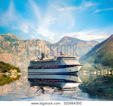 Passenger Ship In The Bay Of Kotor, Montenegro