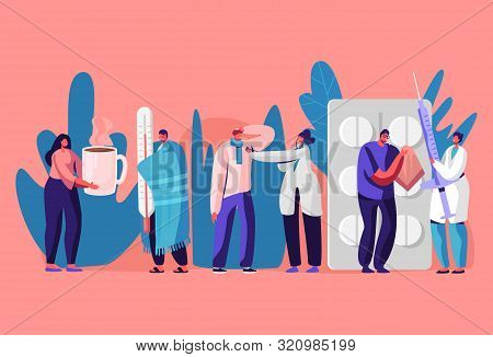 Patients Men And Women Visiting Clinic Or Hospital For Doctor Appointment. Illness, Health Care Conc