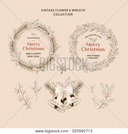 Vintage Christmas Wreath Collection 1