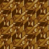 Concept simple wood textured geometric seamless pattern with 50s vintage vibes. Oblong oval shapes repeat motif for for fabric, textile, wrap, surface, wallpaper, web and print design. poster